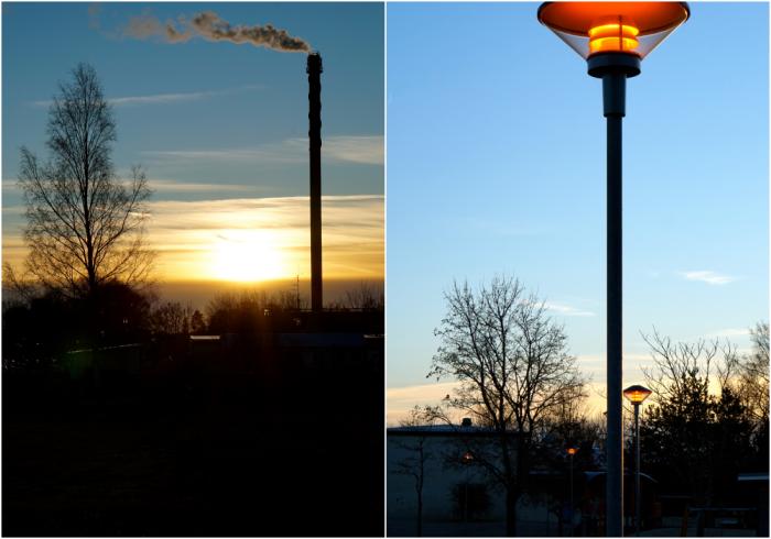 sol och lampa