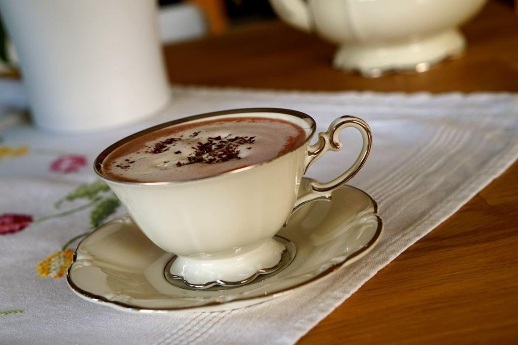 varm choklad som medicin