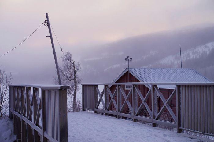 Utsikten från SATS Åre gym