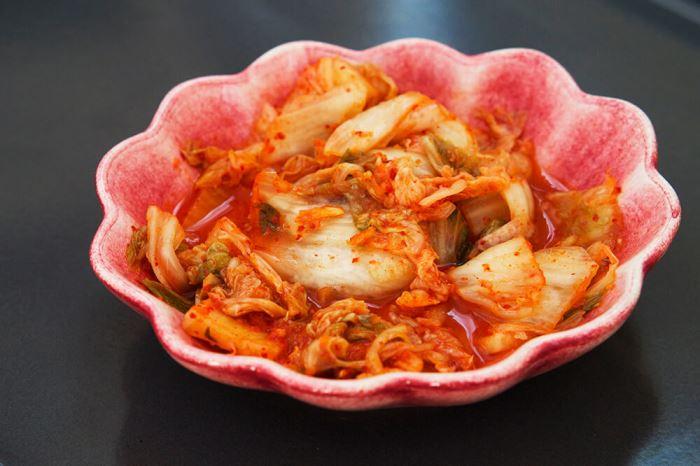 Tre rätters middag med asiatisk touch - kimchi