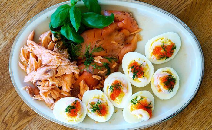 Ägg och lax