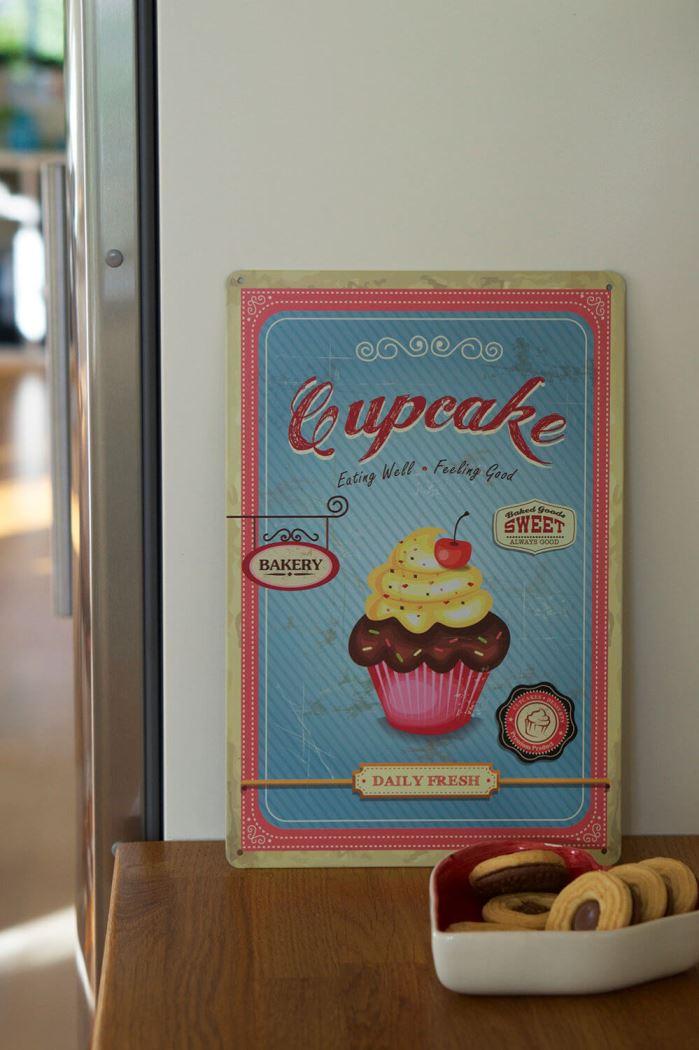 Tavla med cupcake