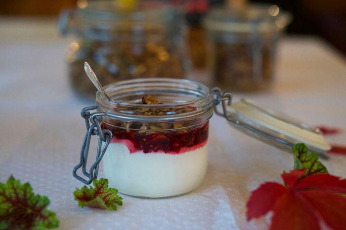 granola med yoghurt och bär