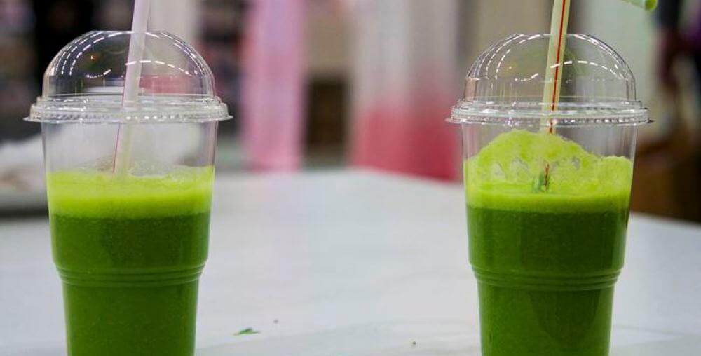 gröna smoothies på Allt för Hälsan-mässan