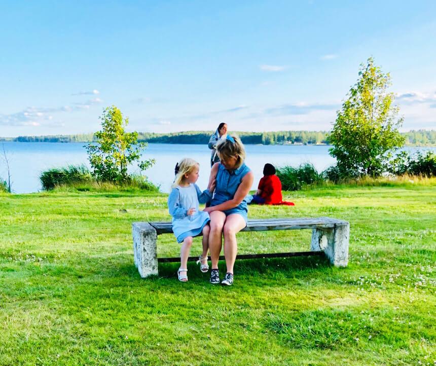 Aktiviteter på en camping i Hultsfred, Småland